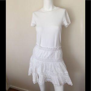 Victoria's Secret white cotton mini skirt